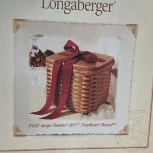 Longaberger 2002 Large Sweetheart Gift Basket Set